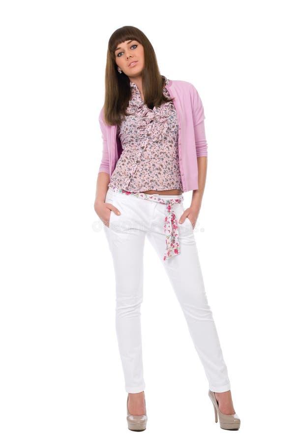 προκλητικές νεολαίες γυναικών brunette στοκ φωτογραφία