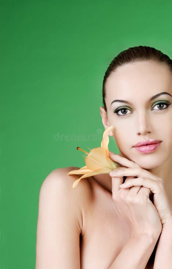 προκλητική γυναίκα πορτρέ στοκ εικόνα με δικαίωμα ελεύθερης χρήσης