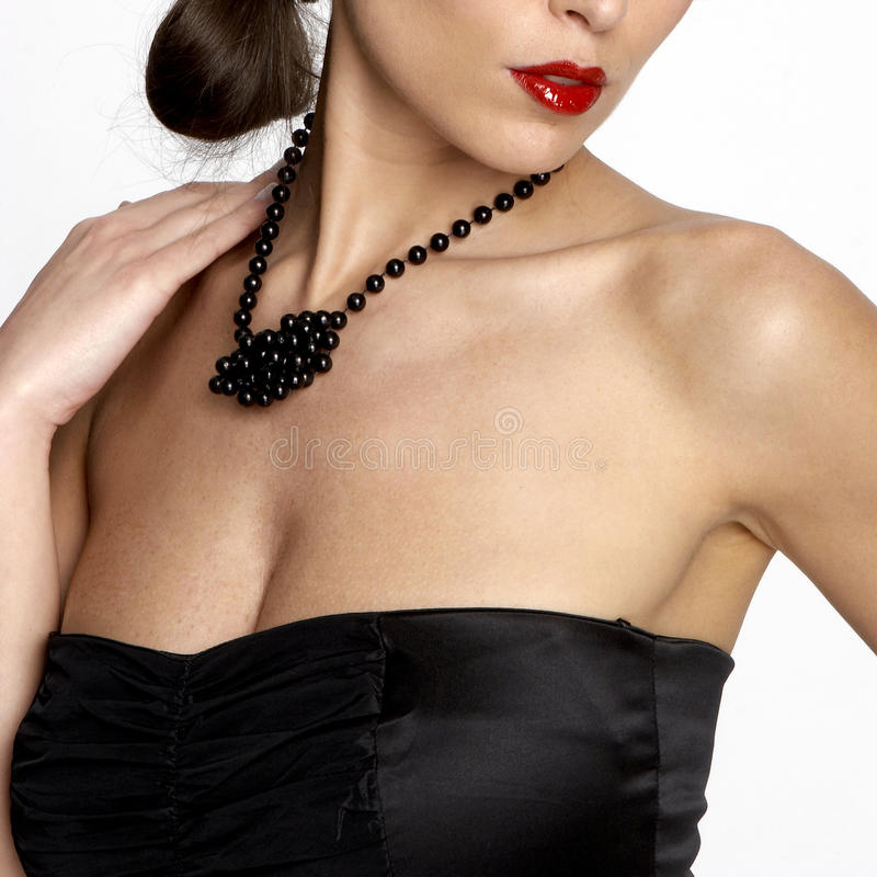 προκλητική γυναίκα neckline s στοκ εικόνες
