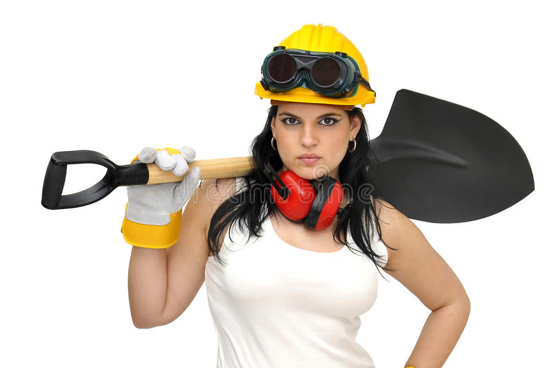 προκλητικός εργαζόμενο&si στοκ φωτογραφία με δικαίωμα ελεύθερης χρήσης