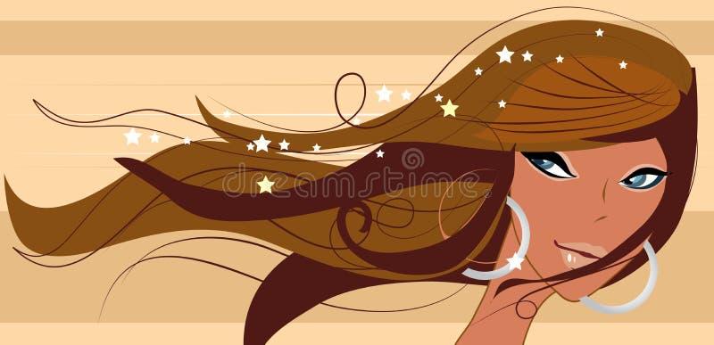 προκλητικό χαμόγελο brunette headshot ελεύθερη απεικόνιση δικαιώματος