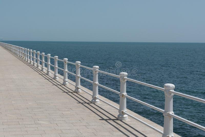 Προκυμαία σε Μαύρη Θάλασσα, Constanta στοκ φωτογραφίες
