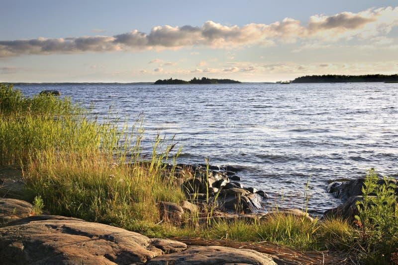 Προκυμαία στην πόλη Vaasa Φινλανδία στοκ εικόνες