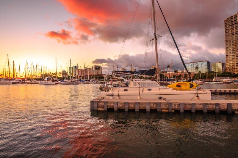 Προκυμαία Χαβάη της Χονολουλού στοκ εικόνα