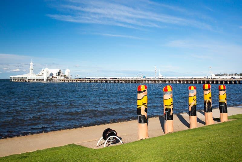 Προκυμαία Geelong το καλοκαίρι στοκ εικόνες με δικαίωμα ελεύθερης χρήσης