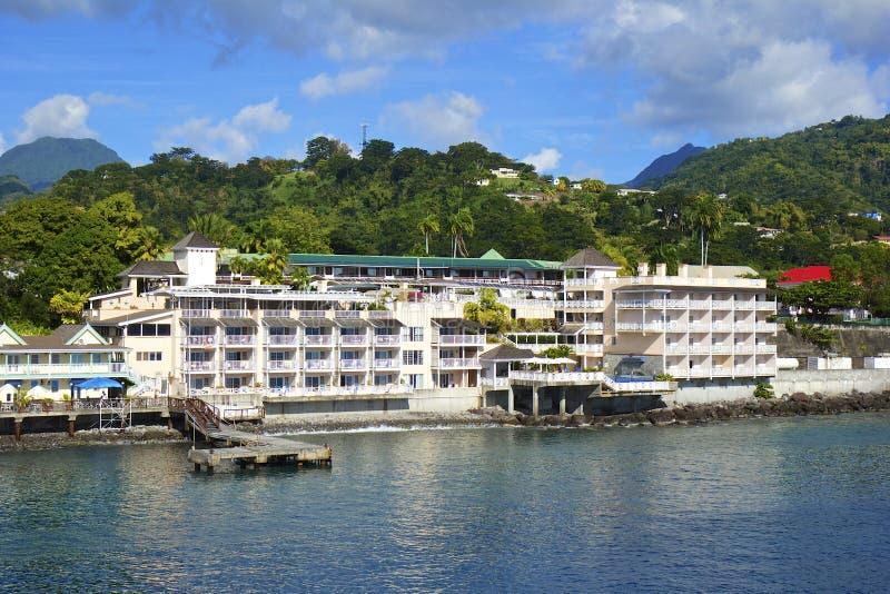 Προκυμαία Roseau στη Δομίνικα, καραϊβική στοκ φωτογραφία