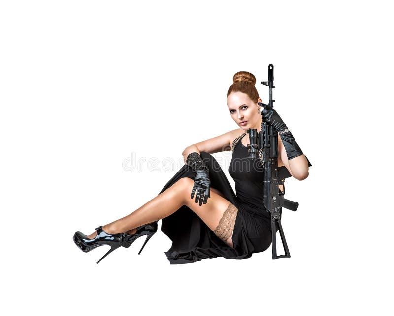 προκλητική λευκή γυναίκ&a στοκ εικόνα με δικαίωμα ελεύθερης χρήσης