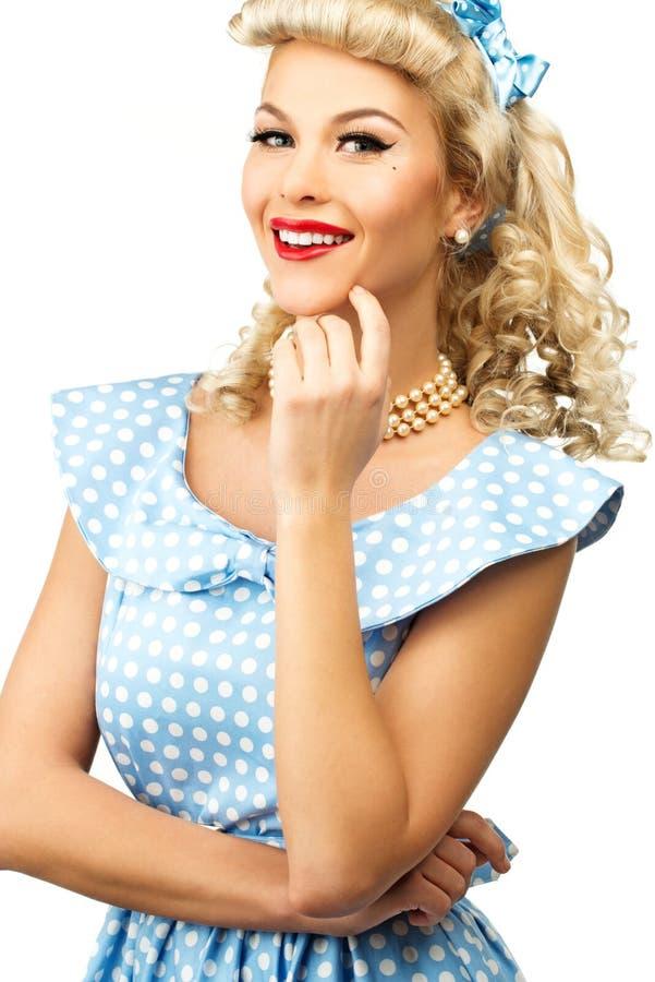 Προκλητική ξανθή καρφίτσα επάνω στη γυναίκα στοκ φωτογραφίες με δικαίωμα ελεύθερης χρήσης