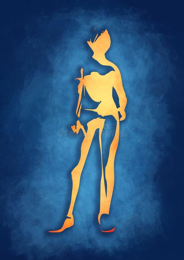 Προκλητική σκιαγραφία γυναικών στην αθλητική ένδυση απεικόνιση αποθεμάτων