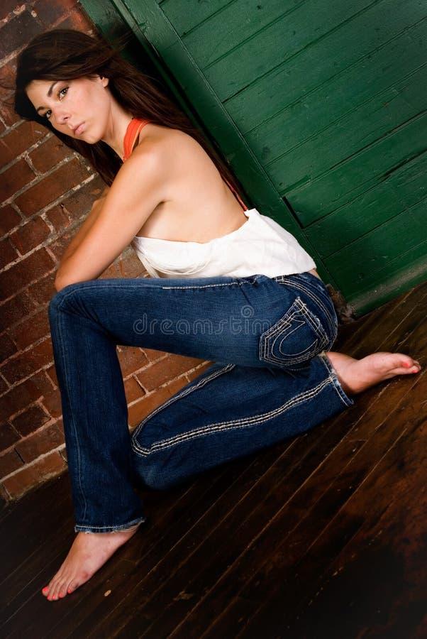 Προκλητικό κορίτσι Brunnete στοκ εικόνα