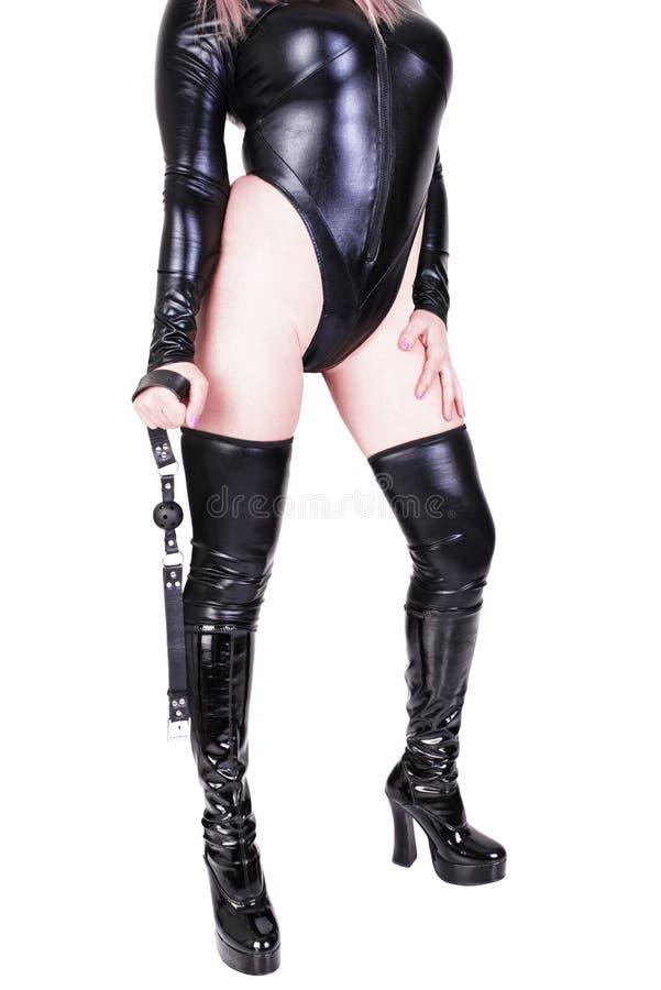 Προκλητικό φίμωμα σφαιρών εκμετάλλευσης dominatrix στοκ εικόνα