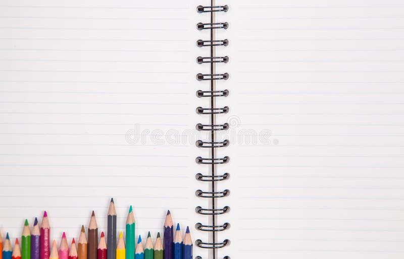 Προμήθειες έννοιας και γραφείων στο λευκό στοκ εικόνες με δικαίωμα ελεύθερης χρήσης