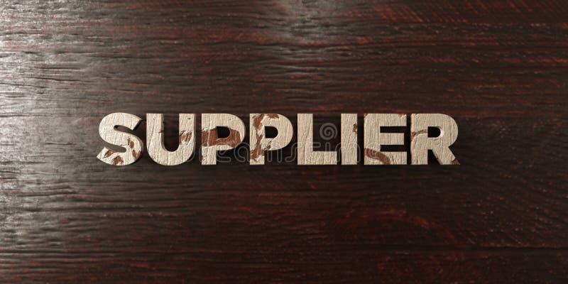 Προμηθευτής - βρώμικος ξύλινος τίτλος στο σφένδαμνο - τρισδιάστατο δικαίωμα ελεύθερη εικόνα αποθεμάτων διανυσματική απεικόνιση