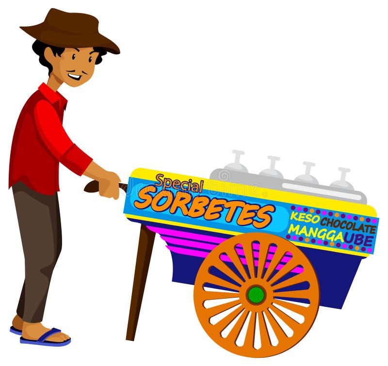 Προμηθευτής παγωτού απεικόνιση αποθεμάτων