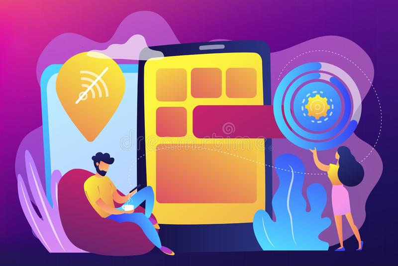 Προοδευτική app Ιστού διανυσματική απεικόνιση έννοιας διανυσματική απεικόνιση