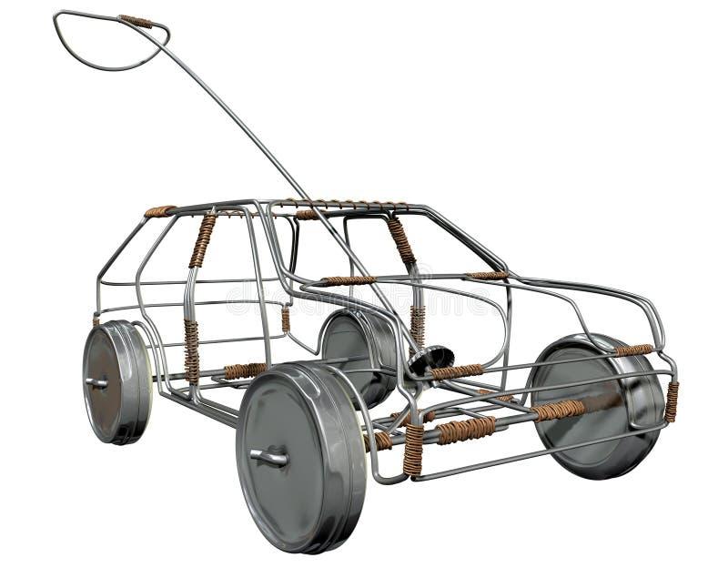 Προοπτική αυτοκινήτων παιχνιδιών καλωδίων ελεύθερη απεικόνιση δικαιώματος