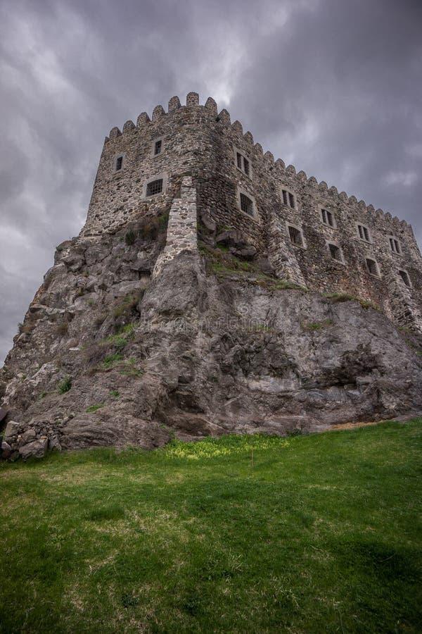 Προοπτική βατράχων της εσωτερικής οχύρωσης του rabati στοκ φωτογραφία με δικαίωμα ελεύθερης χρήσης
