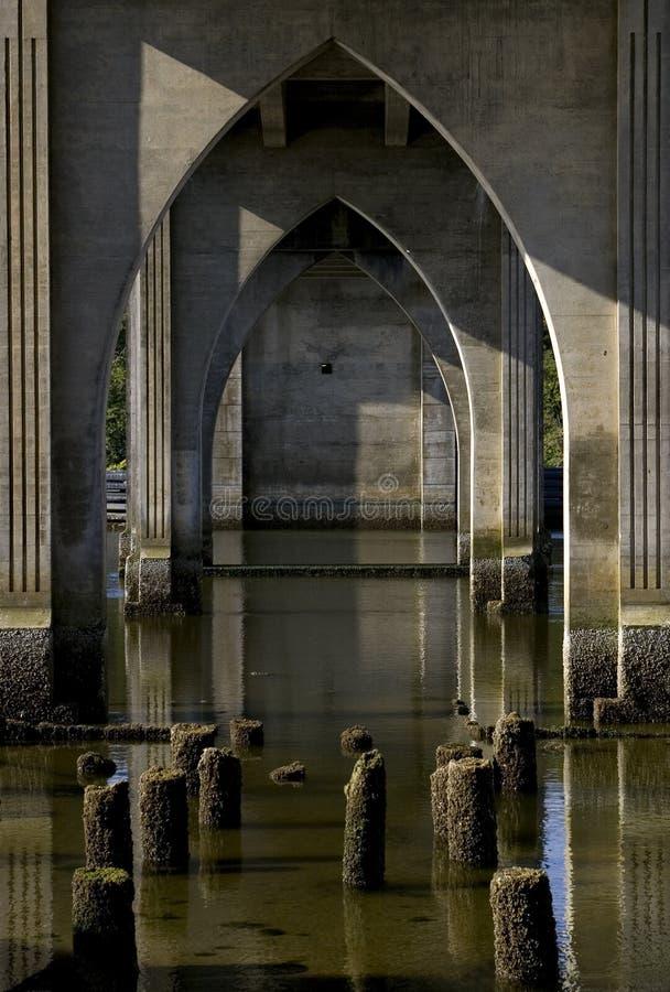 προοπτική γεφυρών στοκ εικόνες