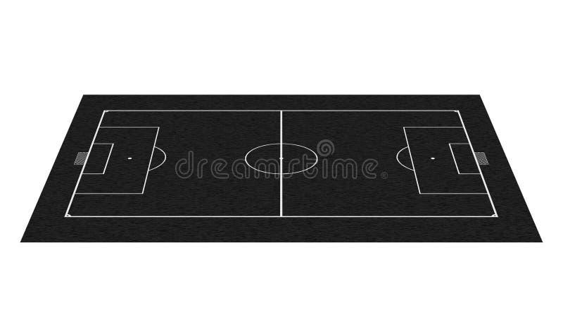 προοπτική ποδοσφαίρου πεδίων πινάκων διανυσματική απεικόνιση