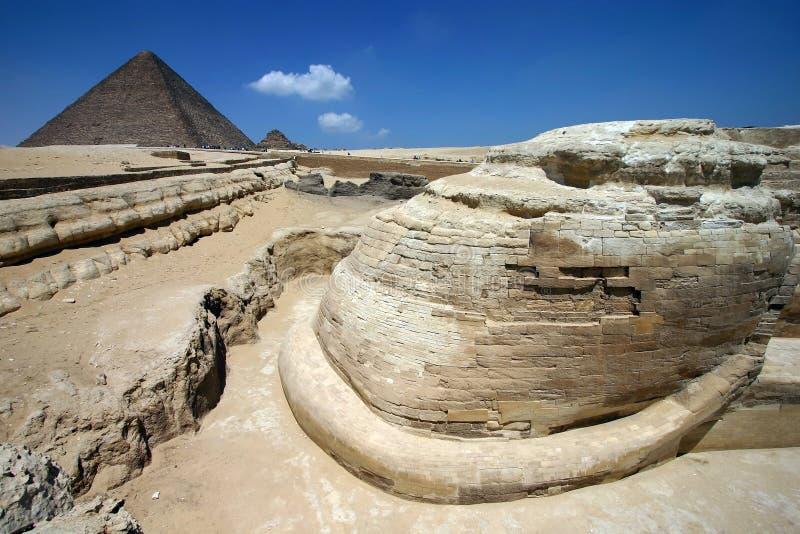 προοπτική sphinx μοναδική στοκ φωτογραφία με δικαίωμα ελεύθερης χρήσης