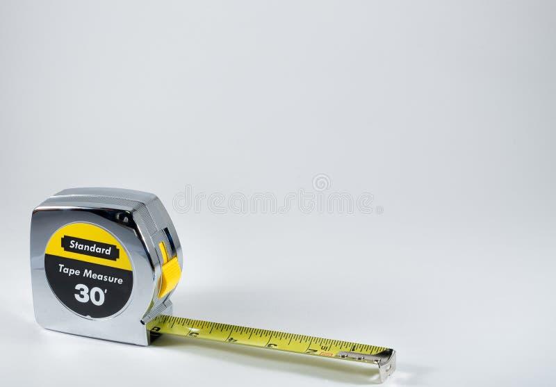 προορισμένη συσκευή ταινία μέτρησης μέτρου μήκους στοκ φωτογραφία