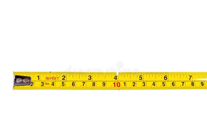 προορισμένη συσκευή ταινία μέτρησης μέτρου μήκους στοκ εικόνα με δικαίωμα ελεύθερης χρήσης