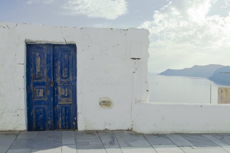 Προορισμός και τοπίο ταξιδιού νησιών Santorini στοκ εικόνες