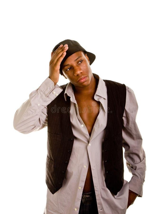 προς τα πίσω μαύρες χεριών νεολαίες ατόμων καπέλων επικεφαλής στοκ φωτογραφία με δικαίωμα ελεύθερης χρήσης
