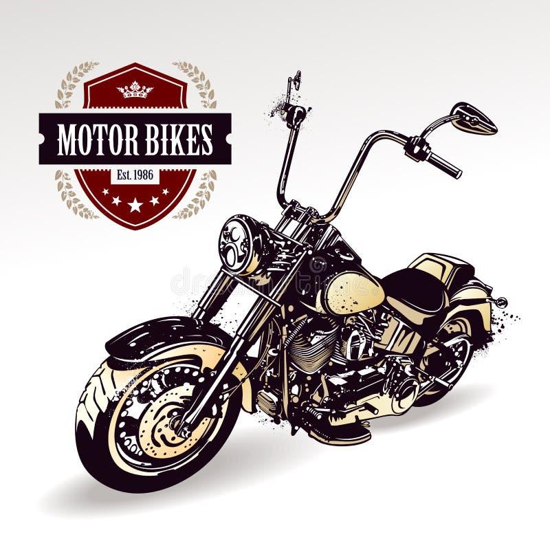 Προσαρμοσμένη μπαλτάς μοτοσικλέτα διανυσματική απεικόνιση