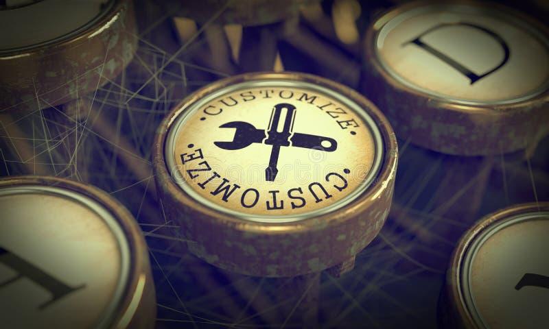 Προσαρμόστε το κλειδί στη γραφομηχανή Grunge. στοκ φωτογραφία με δικαίωμα ελεύθερης χρήσης