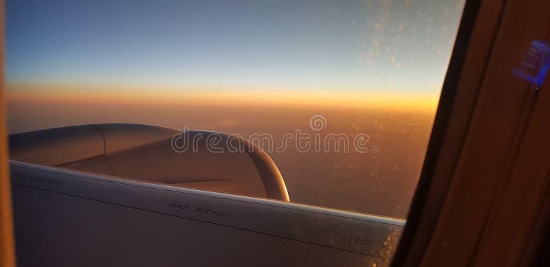 Προσγείωση στο Μάντσεστερ στοκ φωτογραφία