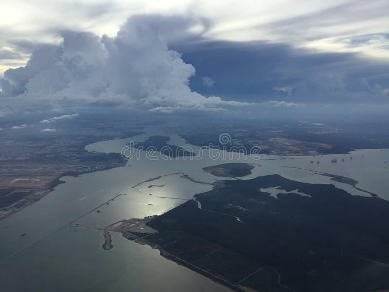 Προσγείωση της Σιγκαπούρης στοκ εικόνα με δικαίωμα ελεύθερης χρήσης