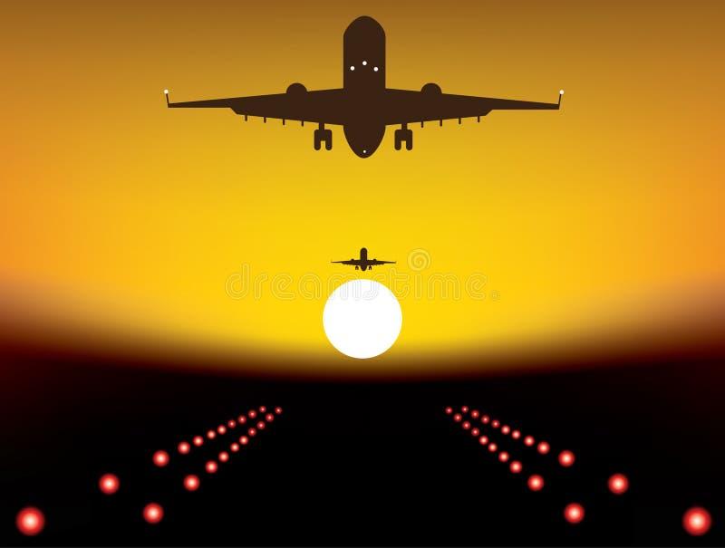 Προσγειωμένος αεροπλάνο απεικόνιση αποθεμάτων