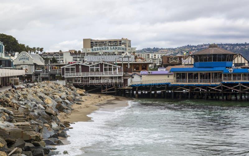 Προσγειωμένος αποβάθρα Redondo, Redondo Beach, Καλιφόρνια, Ηνωμένες Πολιτείες της Αμερικής, Βόρεια Αμερική στοκ εικόνες