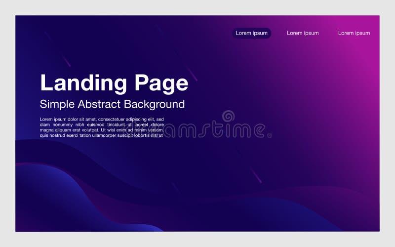 Προσγειωμένος σελίδων απλή σχεδίου γεωμετρική composition_modern σελίδα μορφώ απεικόνιση αποθεμάτων