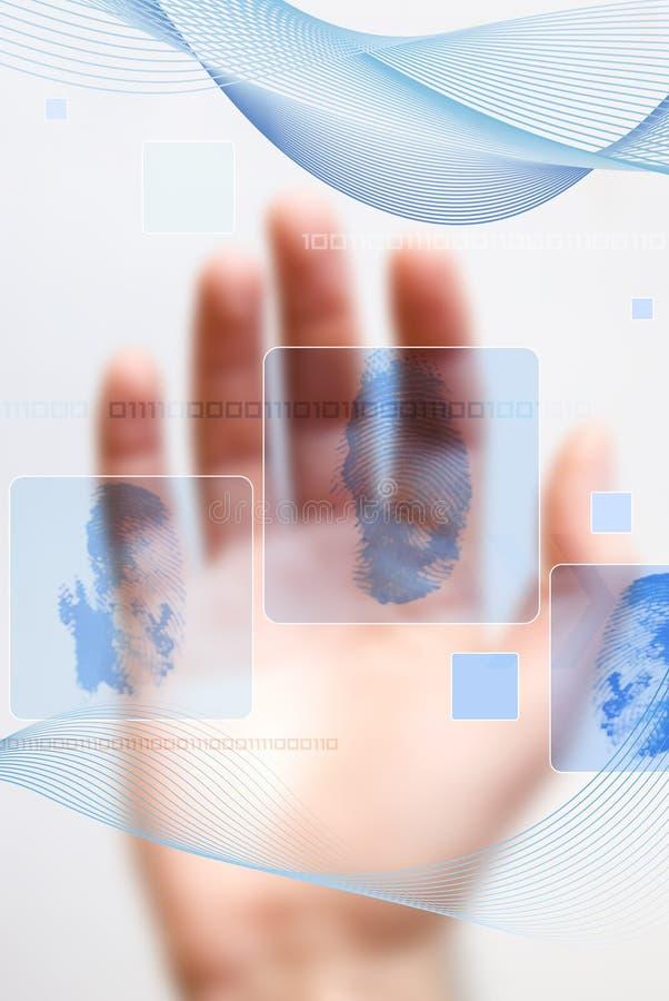 προσδιορισμός δακτυλικών αποτυπωμάτων διανυσματική απεικόνιση