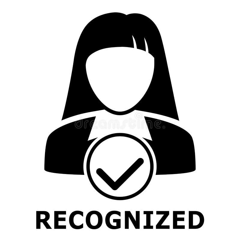 Προσδιορισμός Biometrical Αναγνώριση προσώπου εικονίδιο απλό απεικόνιση αποθεμάτων