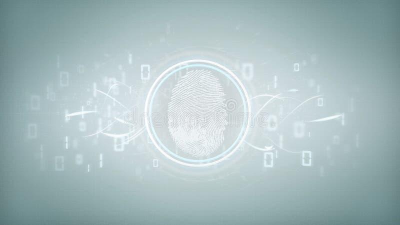 Προσδιορισμός Digirtal figerprint και τρισδιάστατη απόδοση δυαδικού κώδικα ελεύθερη απεικόνιση δικαιώματος