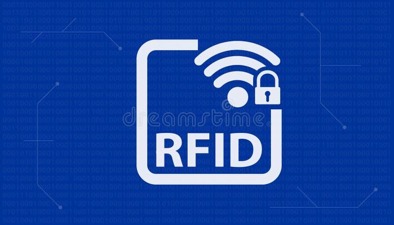 Προσδιορισμός RFID ραδιοσυχνότητας - διανυσματική απεικόνιση ελεύθερη απεικόνιση δικαιώματος