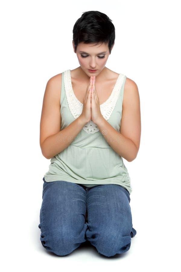 Προσευμένος γυναίκα στοκ φωτογραφίες