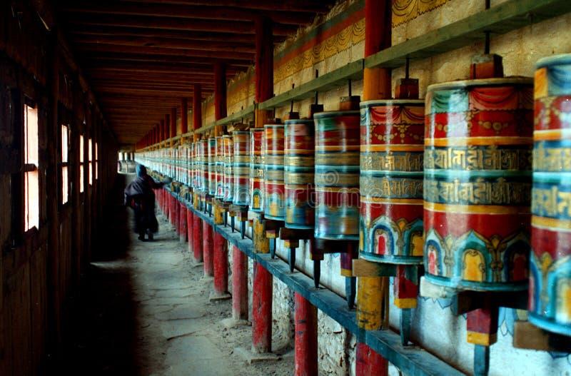 προσευχή Θιβετιανός αιθουσών στοκ εικόνα με δικαίωμα ελεύθερης χρήσης