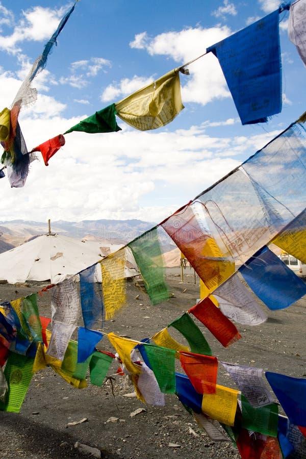 προσευχή Θιβετιανός σημαιών στοκ φωτογραφίες