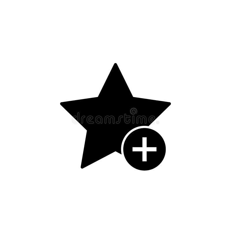 Προσθέστε το αγαπημένο εικονίδιο σελιδοδεικτών αστεριών διανυσματική απεικόνιση