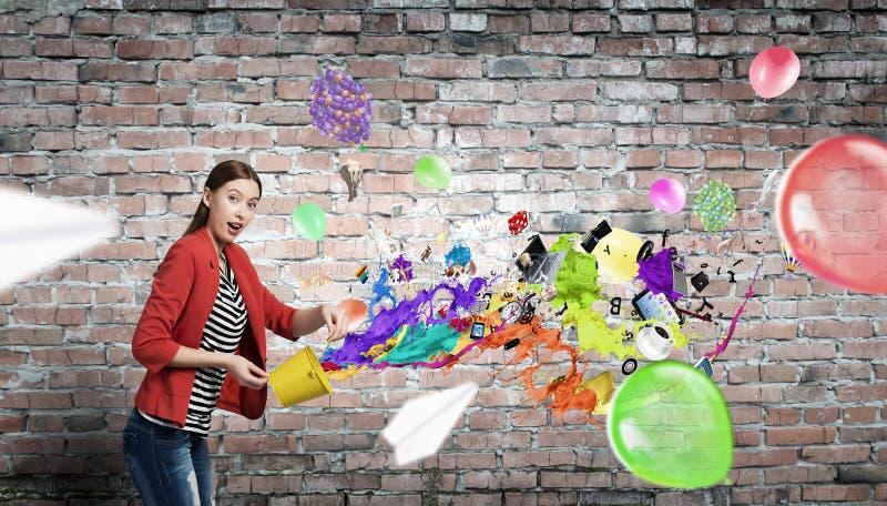 Προσθέστε το χρώμα και τις διακοπές στη ζωή σας στοκ εικόνα