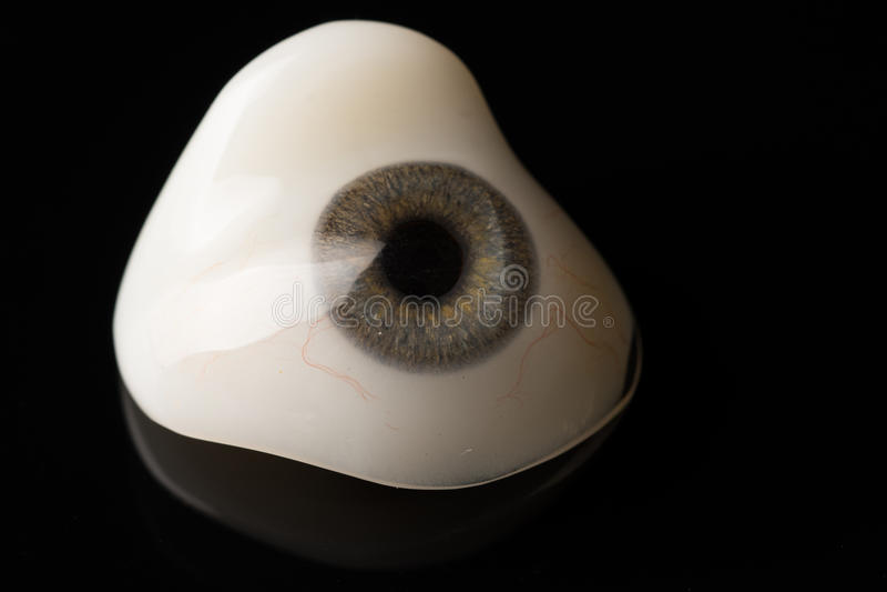 Προσθετική ή οφθαλμική πρόσθεση ματιών γυαλιού στο Μαύρο στοκ φωτογραφίες με δικαίωμα ελεύθερης χρήσης
