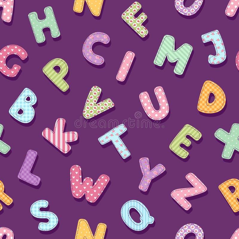 Προσθηκών αλφάβητου τυπογραφίας επιστολών χαριτωμένο εκλεκτής ποιότητας κομψό ύφους διακοσμήσεων διανυσματικό υπόβαθρο σχεδίων απ απεικόνιση αποθεμάτων