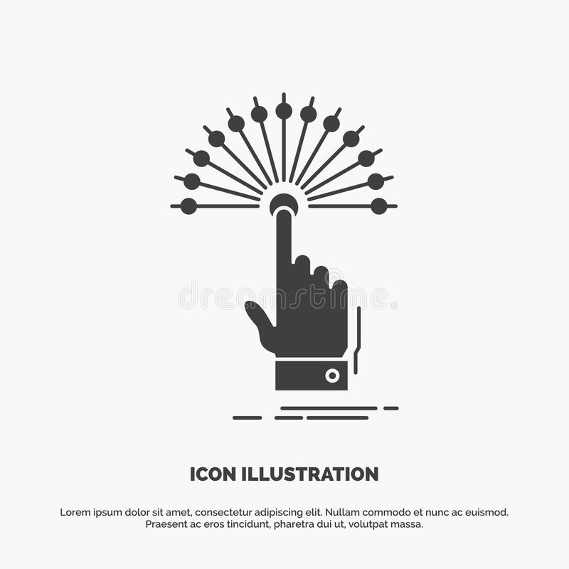 προσιτότητα, αφή, προορισμός, ψηφιακό, αναλυτικό εικονίδιο glyph διανυσματικό γκρίζο σύμβολο για UI και UX, τον ιστοχώρο ή την κι διανυσματική απεικόνιση