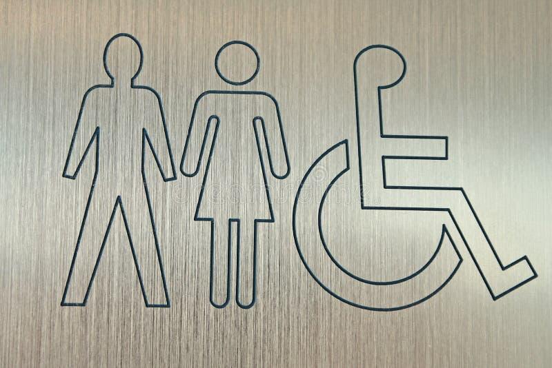 προσιτό WC σημαδιών στοκ φωτογραφίες με δικαίωμα ελεύθερης χρήσης