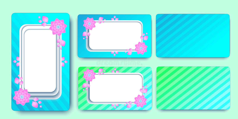 Προσκαλέστε τα λουλούδια προτύπων γαμήλιων καρτών χρωματισμένα λωρίδες EPS 10 διανυσματική απεικόνιση διανυσματική απεικόνιση