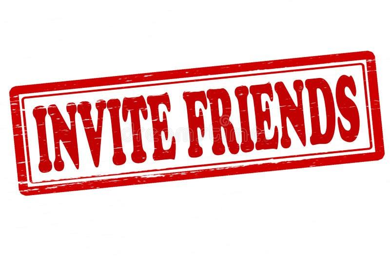 Προσκαλέστε τους φίλους απεικόνιση αποθεμάτων